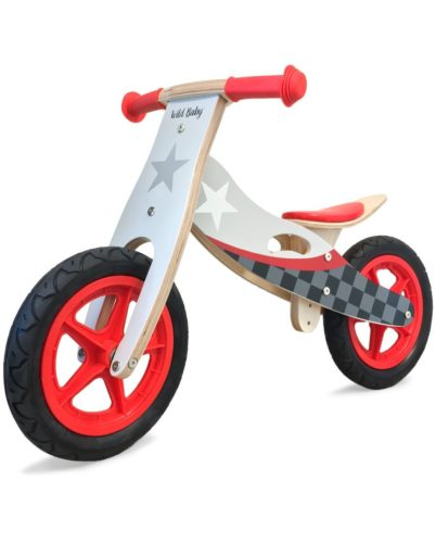 Wild baby girls and boys training bike