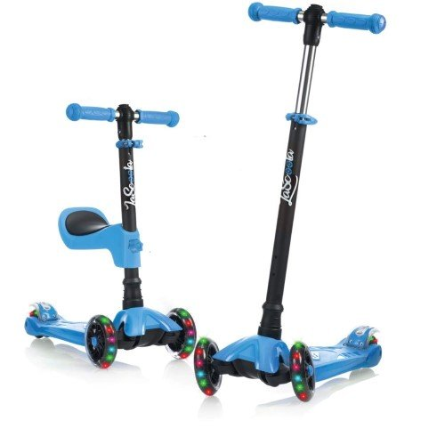 LaScoota 2in1 Kick Scooter Removable Seat
